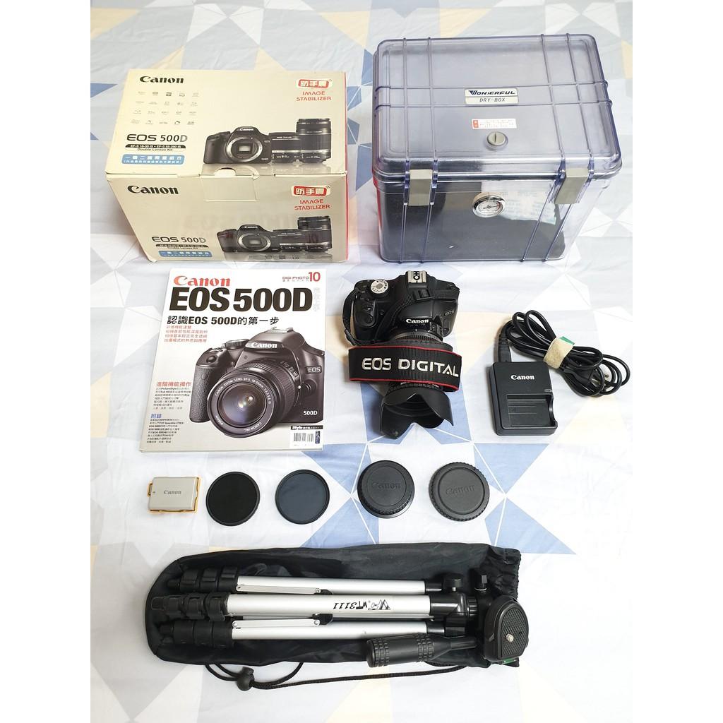 二手 佳能 Canon EOS 500D 18-55mm鏡頭 配件齊全 單眼相機 防手震 入門單眼 Canon 500D