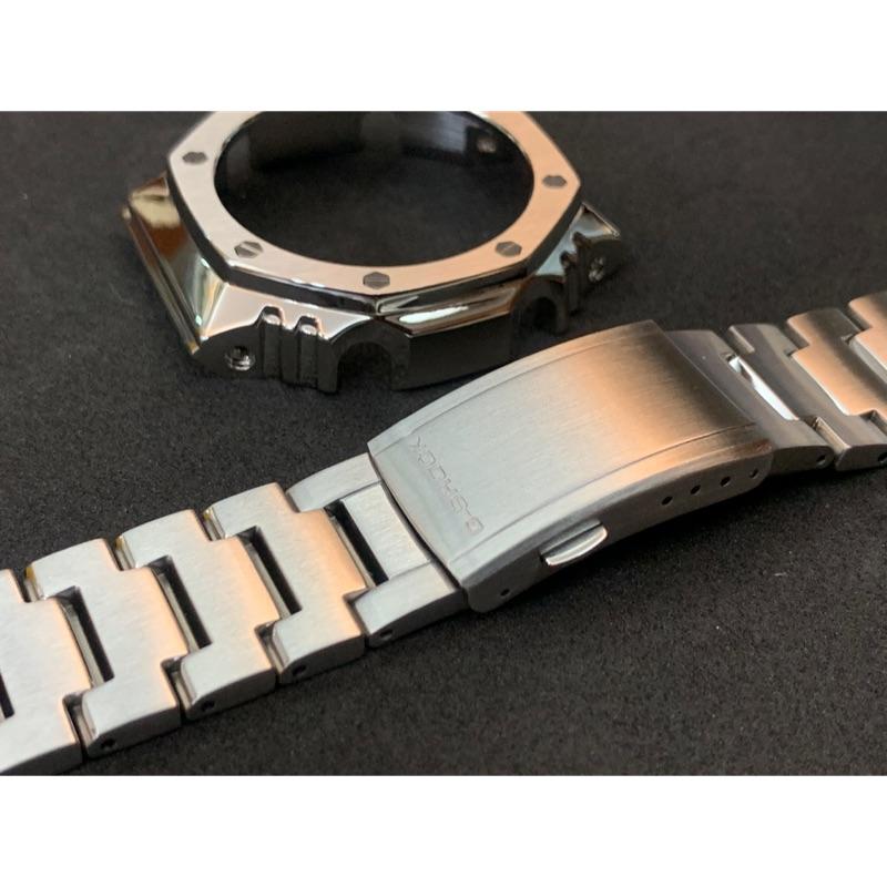 全新現貨 G shock ga2100 農家橡樹 改裝 金屬 錶帶 錶殼