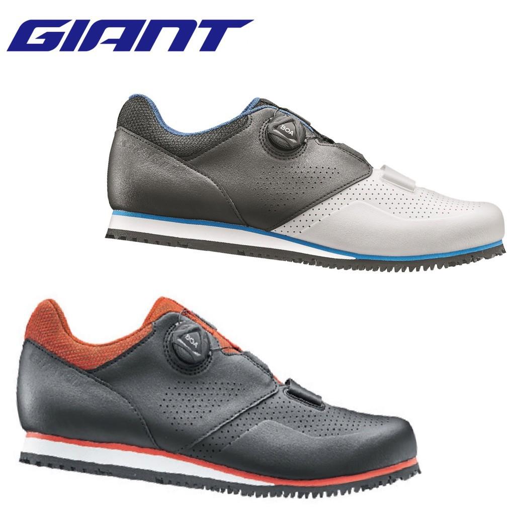 GIANT PRIME 寬楦自行車專用硬底鞋 男鞋 雙色 (39-46號)