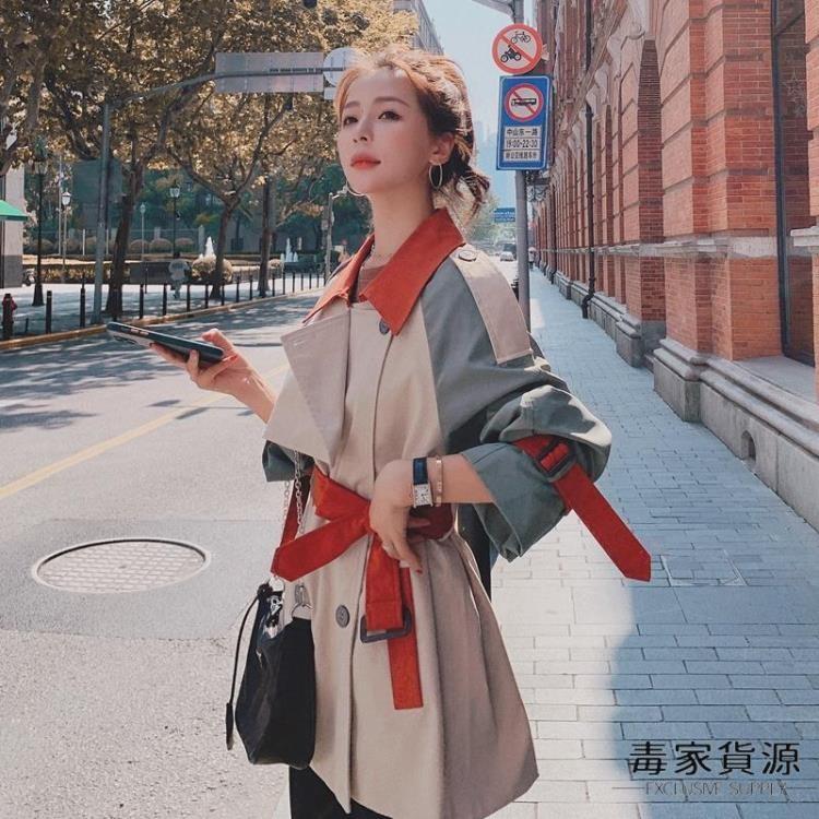 風衣女短款小個子氣質工裝外套大衣