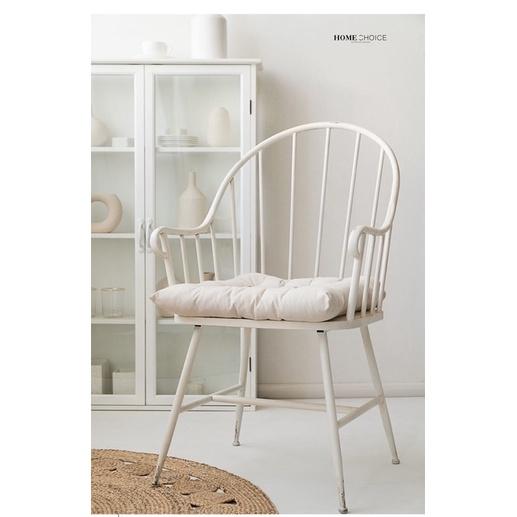 【小宇宙】原創ins風北歐鐵藝做舊Zara home餐椅扶手椅咖啡椅坐墊靠背椅子
