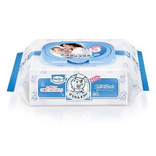 【紫貝殼】『BAAN01-2』貝恩 Baan NEW嬰兒保養柔濕巾-箱購80抽×3包 無香料 桃園市