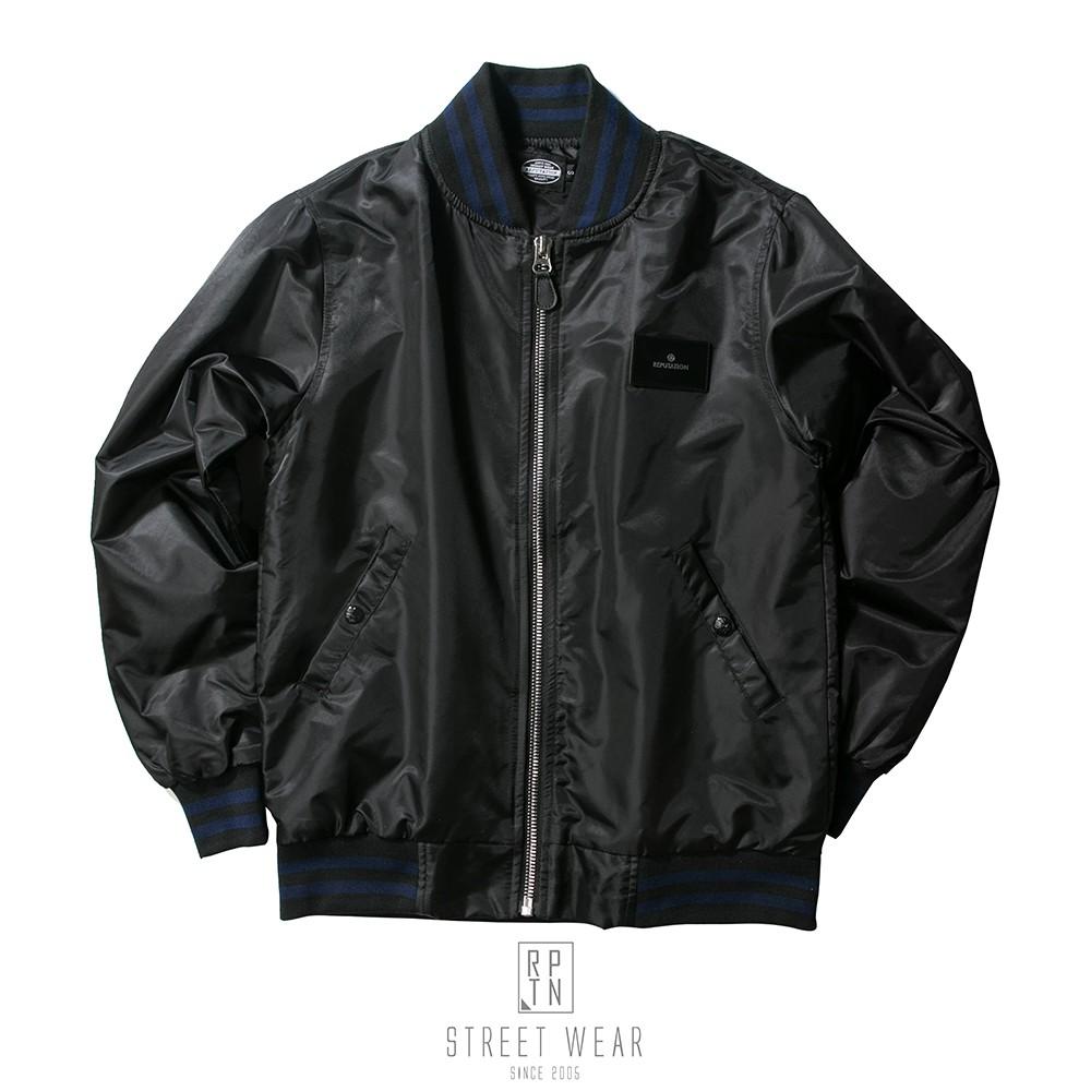 RPTN Baseball Jacket- RPTN皮標拼色棒球外套