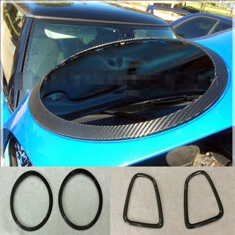 迷你MINI COOPER R56專車專用碳纖維加裝大燈框尾燈框裝飾圈