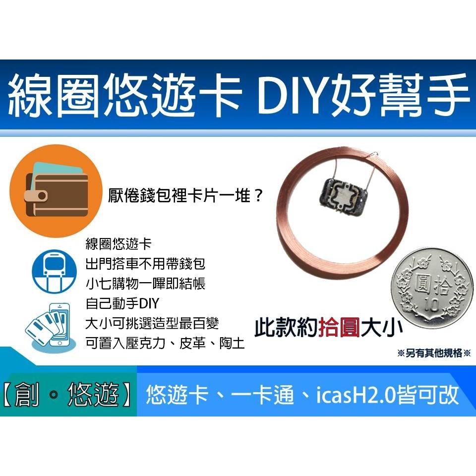 【 創悠遊 】改造 悠遊卡 一卡通 晶片小魔女 doremi PS4 手把 搖桿 發光 線圈 小米手環 手錶 錶帶