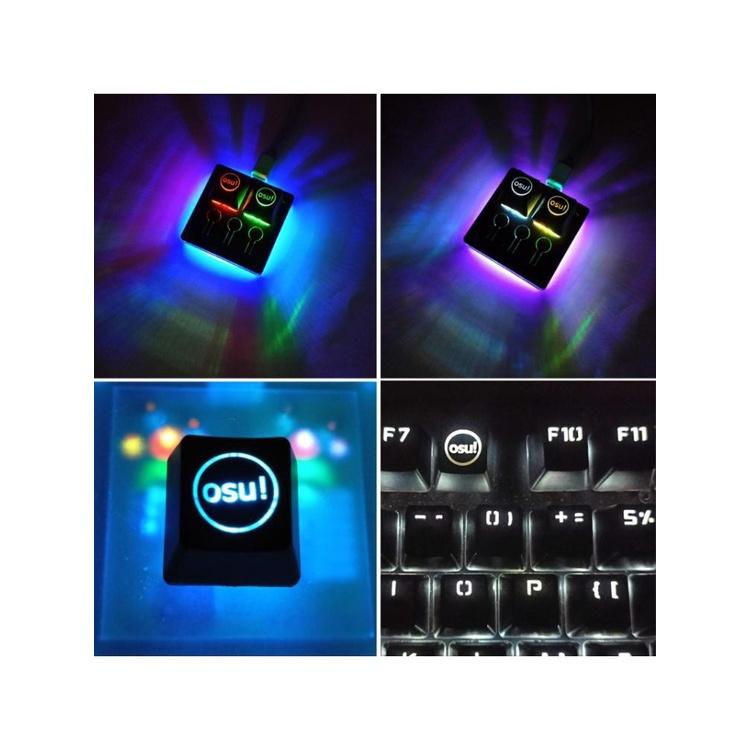 ABS背光OSU鍵帽,用於Cherry鍵盤背光機械鍵盤鍵帽