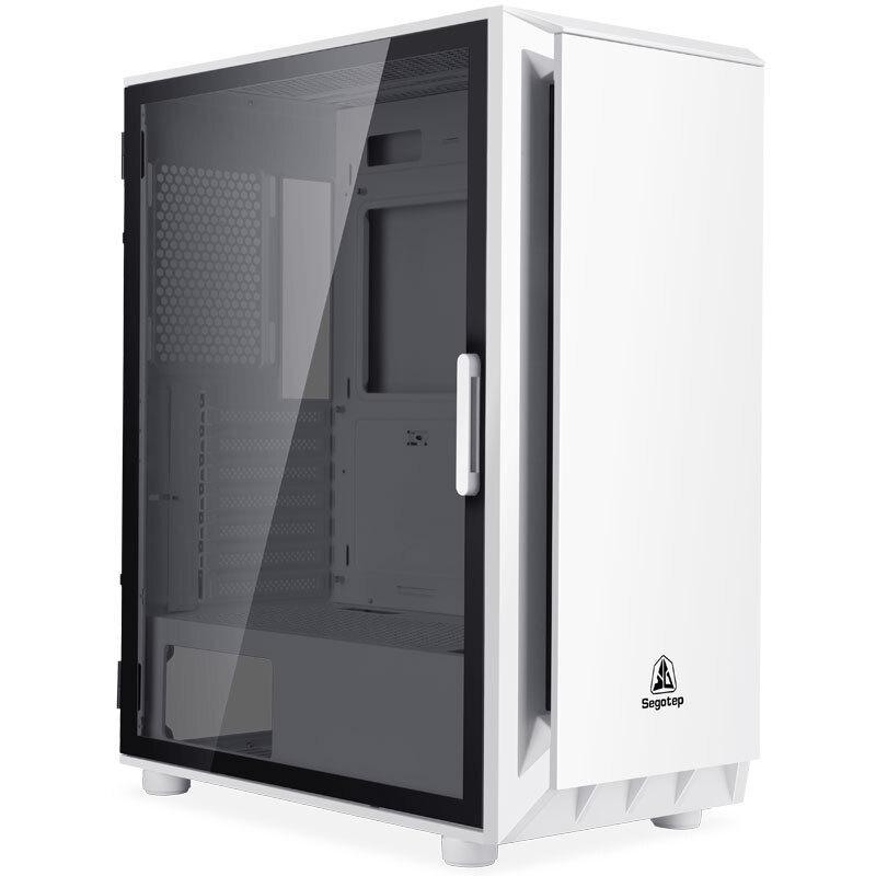 segotep鑫穀桌上型電腦電腦主機殼玻璃全側透ATX版型黑色白色粉色