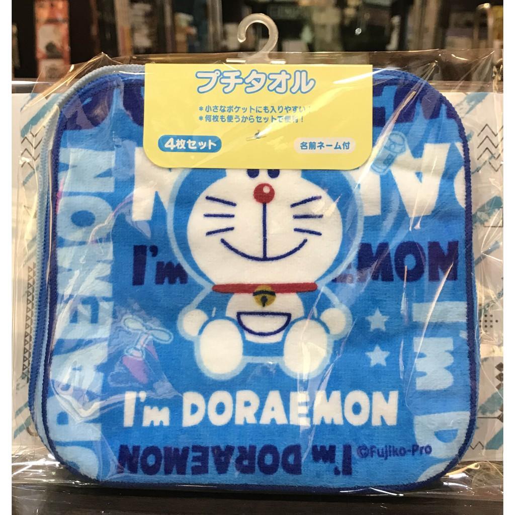 【華欣書店】《日本商品│DORAEMON 哆啦A夢 小毛巾 手帕組(三入一組,16 x16 cm)》