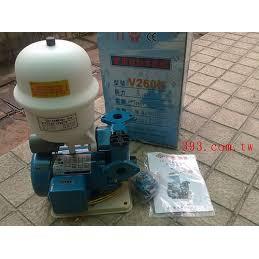有水電師傅處理安裝問題(費用看商品描述,限台北市/新北市),九如加壓馬達V260 馬力: 1/4HP