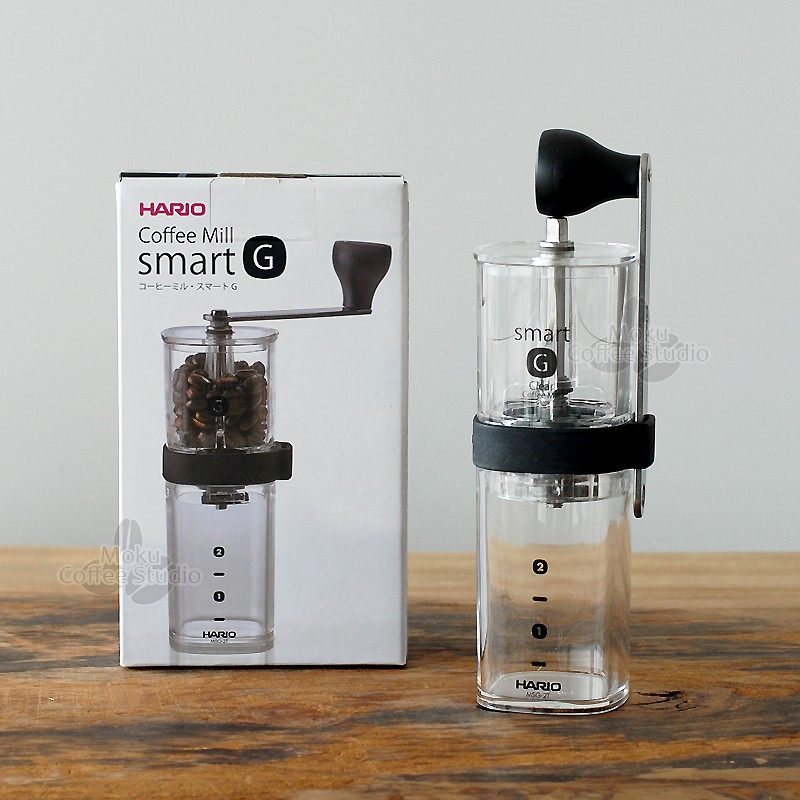 Hario Hand Grinder Coffee Mill Smart G Clear MSG-2-T from JAPAN