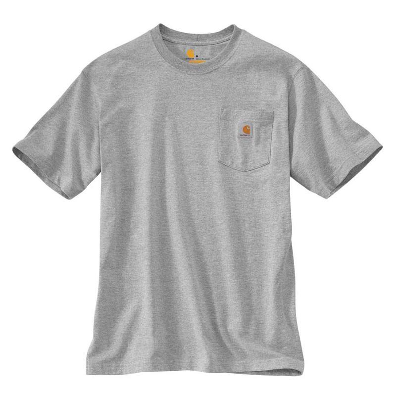 CARHARTT - K87 HGY 美線 Pocket Tee 口袋 短T 素T (HGY 淺灰) 化學原宿