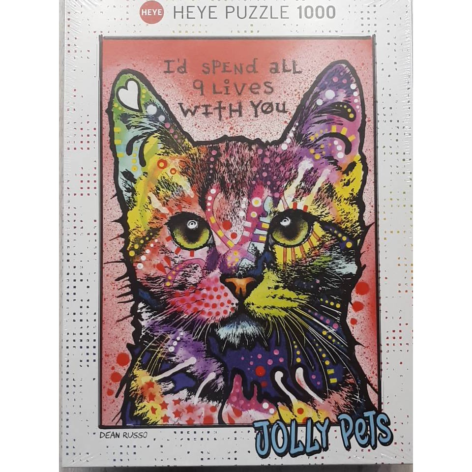 👉全新正品現貨,高雄可面交👈  HEYE  JOLLY PETS 貓 1000片 拼圖