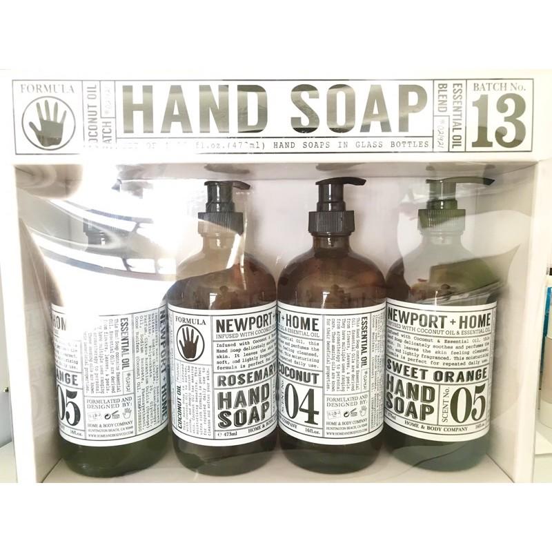 《現貨》NEW PORT +HOME 玻璃罐洗手乳 Costco新品 洗手乳 椰子油/柑橘/迷迭香