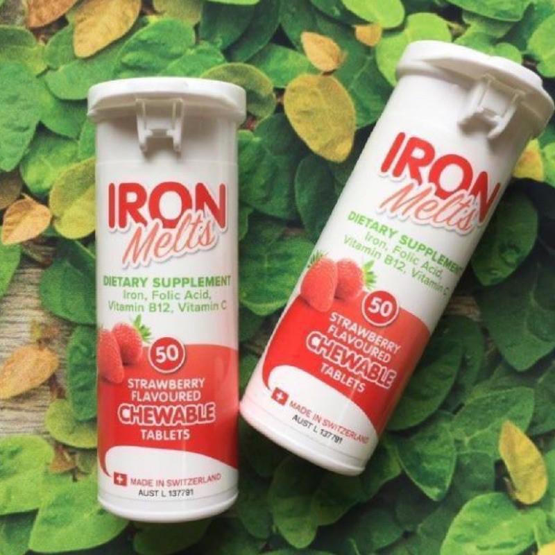 澳洲代購Iron Melts補鐵咀嚼片草莓口味🍓
