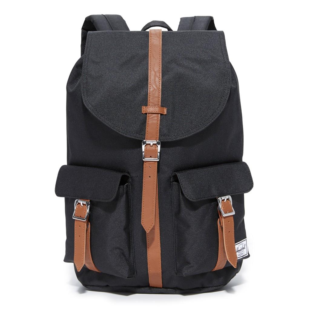 Herschel Supply Dawson 大型 中型 黑色 皮革帶 磁扣 帆布 筆電層 背包 後背包 現貨 金高銀