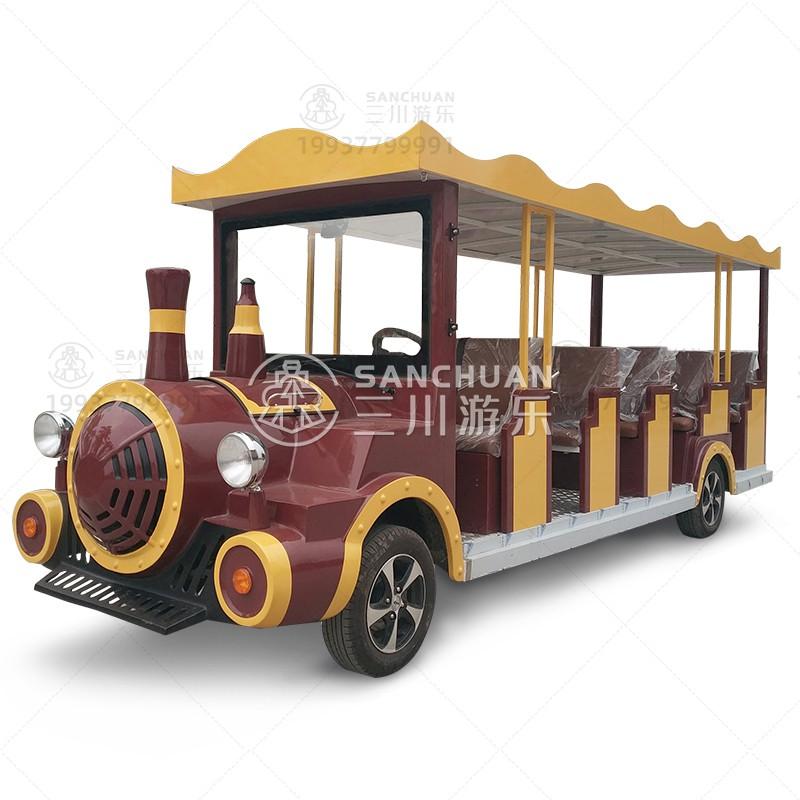 三川遊樂觀光車火車頭造型可坐人敞篷車民宿景點接駁車純電擺渡車