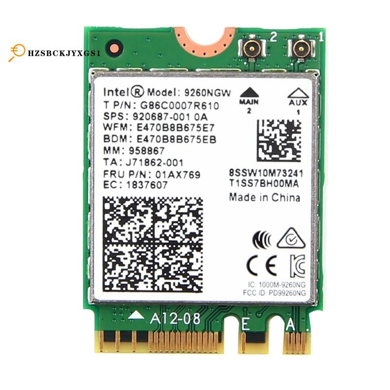雙頻無線-AC 9260,用於Intel 9260NGW NGFF 802.11Ac MU-MIMO 1730Mbps