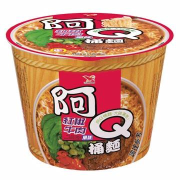 阿Q桶麵 紅椒牛肉 雞汁排骨 生猛海鮮 韓式泡菜