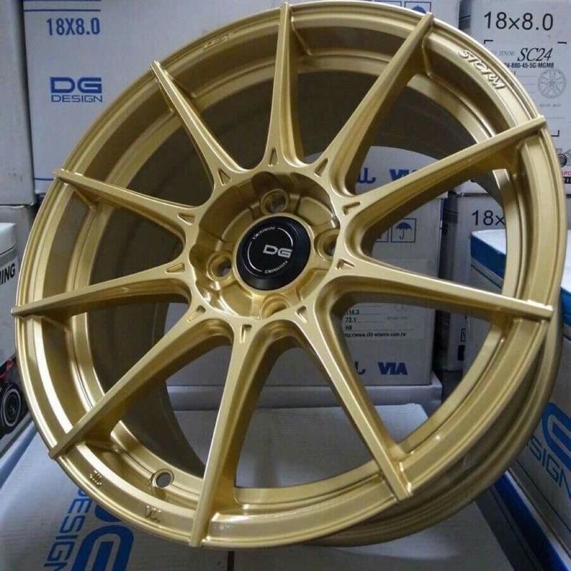 DG FG06 17吋5孔114.3金色旋壓輕量鋁圈(其他規格尺吋顏色歡迎洽詢)(價格標示88非實際售價 洽詢優惠中)