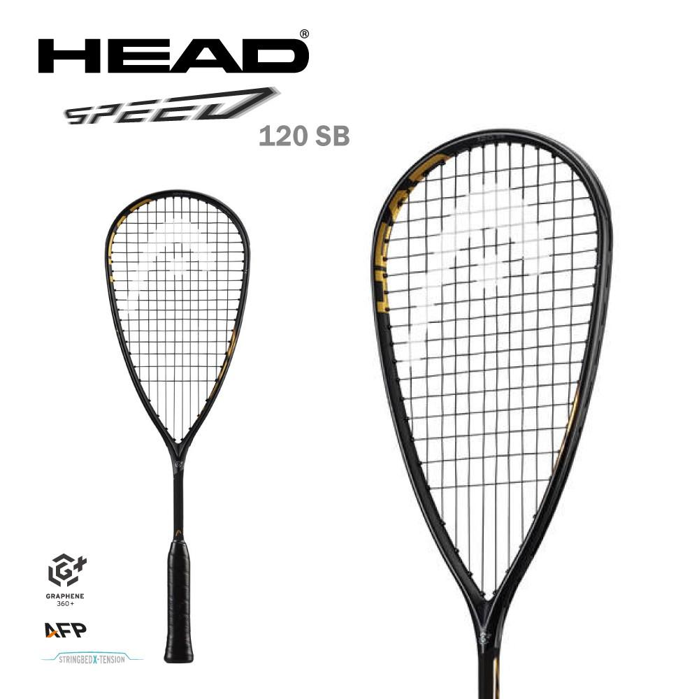 HEAD SPEED 120 SB 壁球拍 壁拍 211041 黑金 GRAPHENE360+