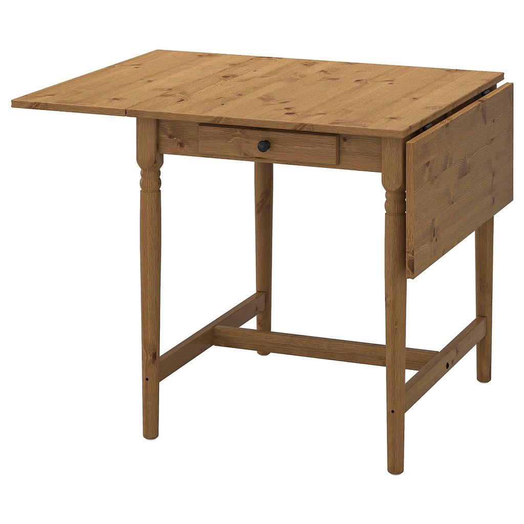 北歐風格IKEA宜家INGATORP折疊桌實木餐桌工作桌/仿古染色/短65長123/二手八成新/原$4990特$3500