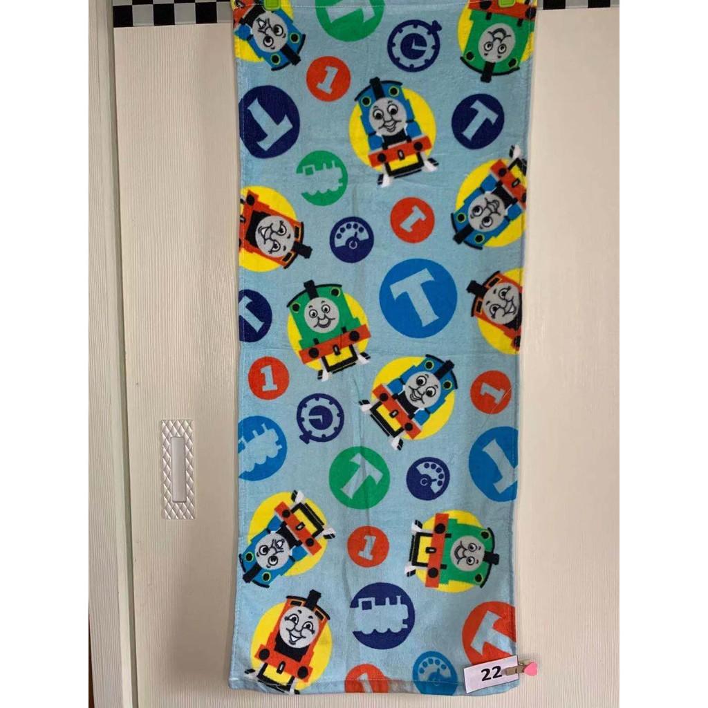 【現貨甜甜價】尾單卡通小火車迪士尼公主三眼怪玩具總動員湯瑪士兒童方巾毛巾浴巾