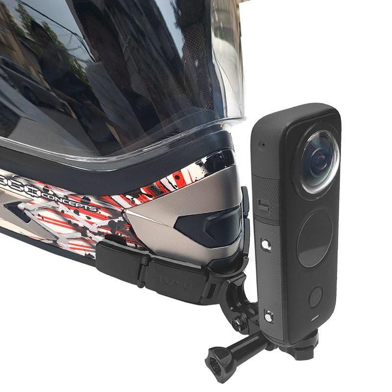 適用insta360 one X2 R頭盔下巴支架gopro摩托車騎行固定手機配件 tYHY