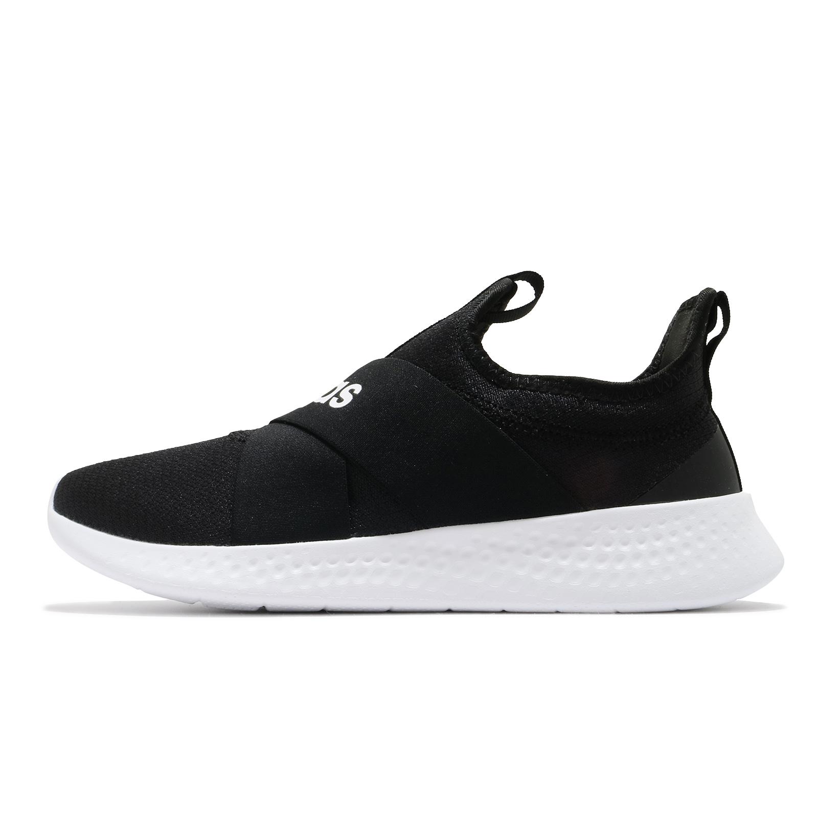 adidas 休閒鞋 Puremotion Adapt 黑白 三葉草 襪套式 小白鞋 女鞋 【ACS】