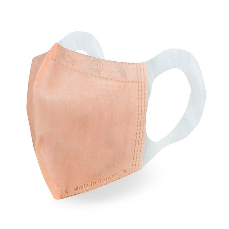 格安德 台灣製造 口罩國家隊 鋼印醫療級兒童立體彩色口罩 橙色