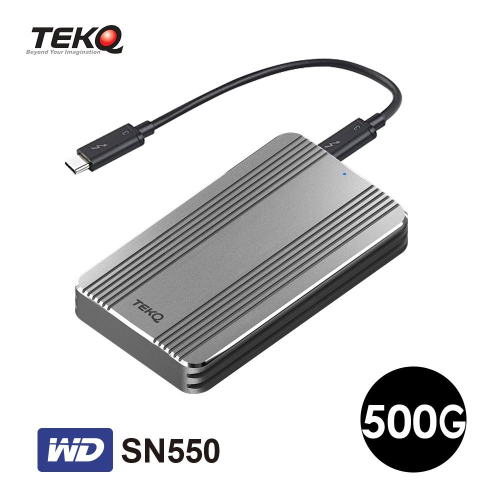 TEKQ Rapide WD SN550 500G Thunderbolt 3 M.2 SSD 外接式 行動硬碟