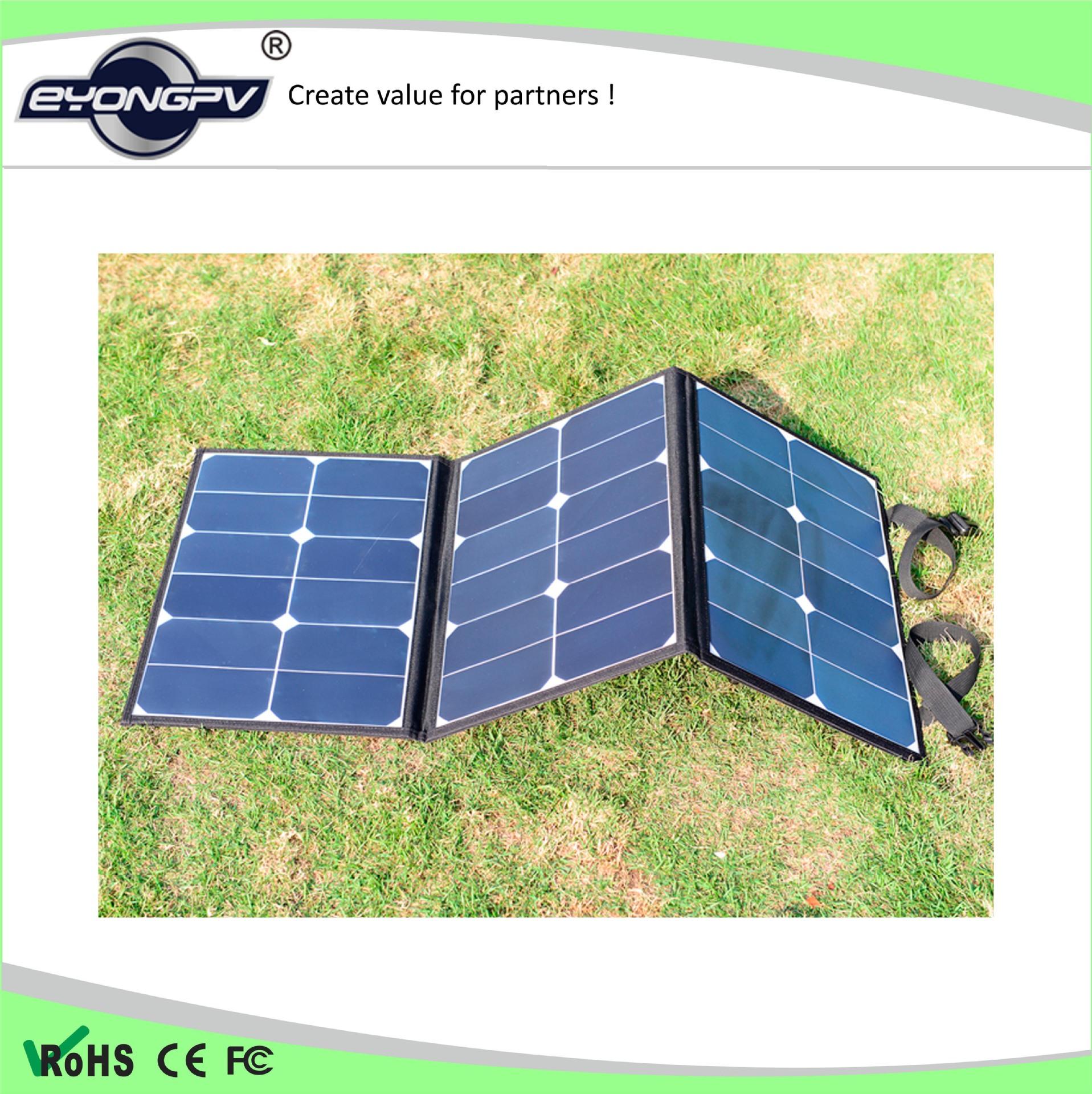【太陽能充電寶】Sunpower折疊太陽能充電包 60W便攜式陽能電池充電 高效太陽能板
