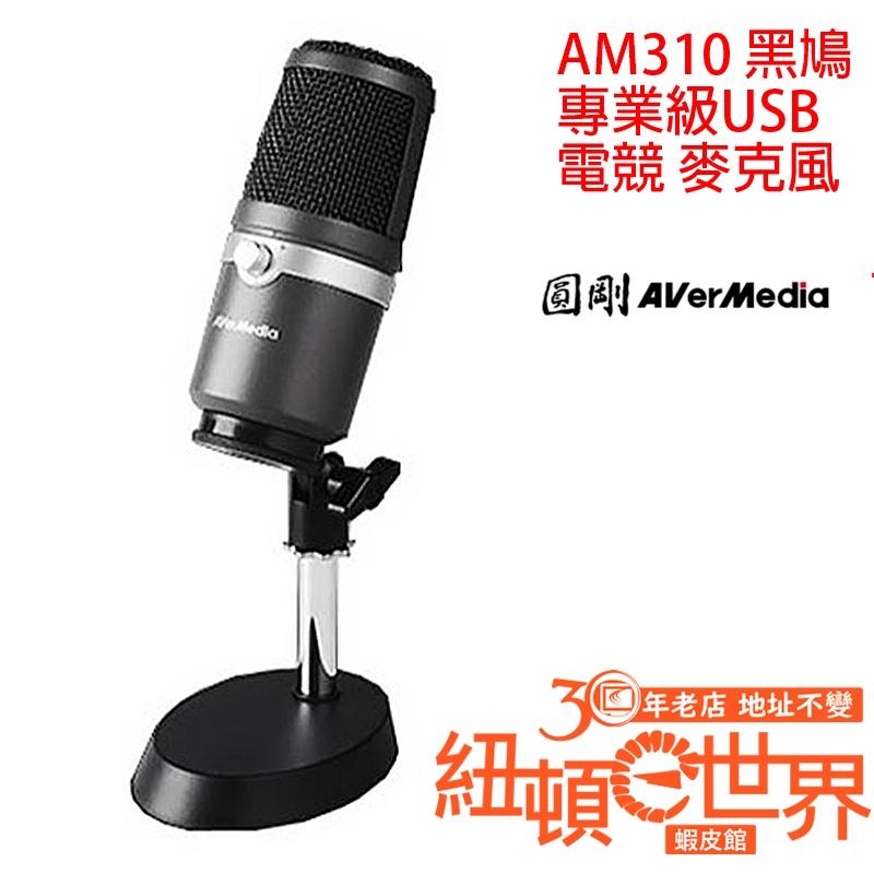 AVerMedia 圓剛 AM310 黑鳩 專業級 USB 麥克風 紐頓e世界