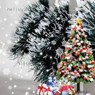 Heliuyun Youngxilive 200cm 彩色酒吧上衣絲帶花環白色深綠色甘蔗金屬絲派對聖誕樹裝飾品