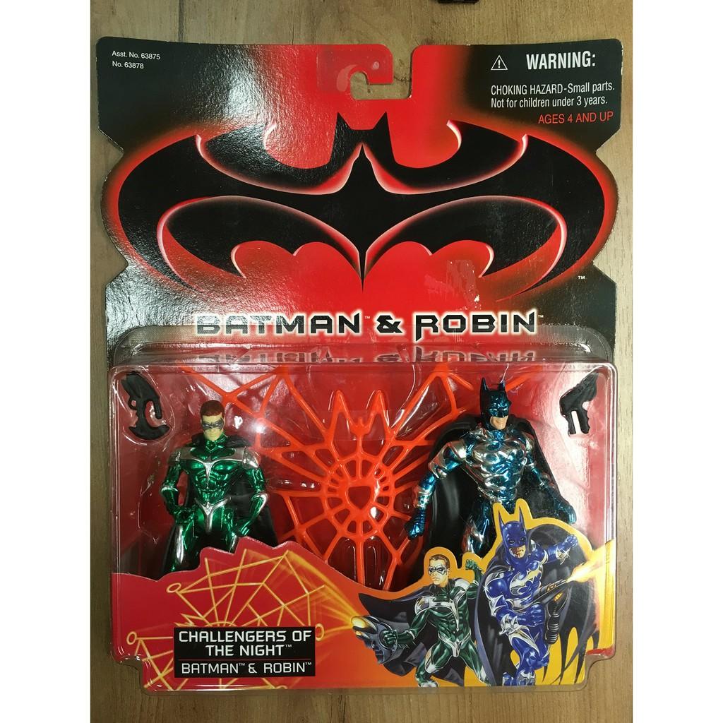 [蝙蝠俠003]1998 Kenner Batman and Robin 蝙蝠俠 羅賓 5吋 稀有 吊卡