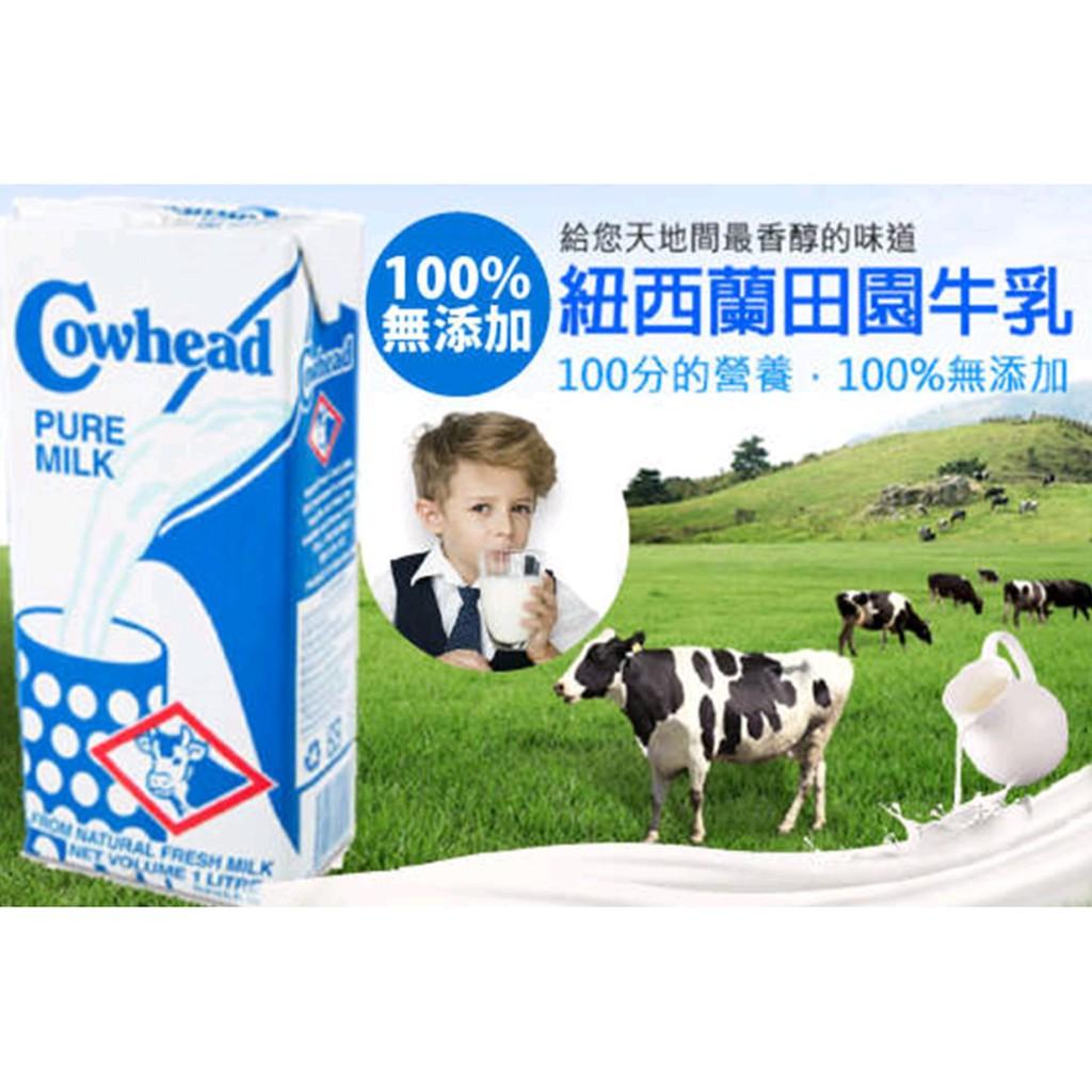 Cowhead田園-紐西蘭100%無添加UHT全脂鮮乳保久乳1000ml-12/箱