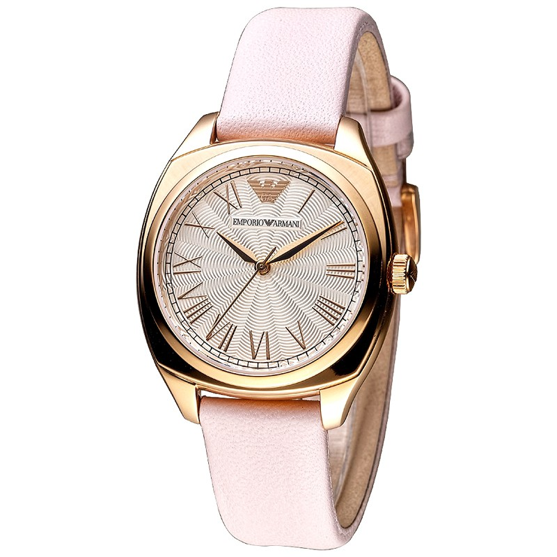 【ARMANI亞曼尼】手錶 AR1951 粉紅佳人羅馬刻度時尚腕錶-玫瑰金_保固二年,超值搶購