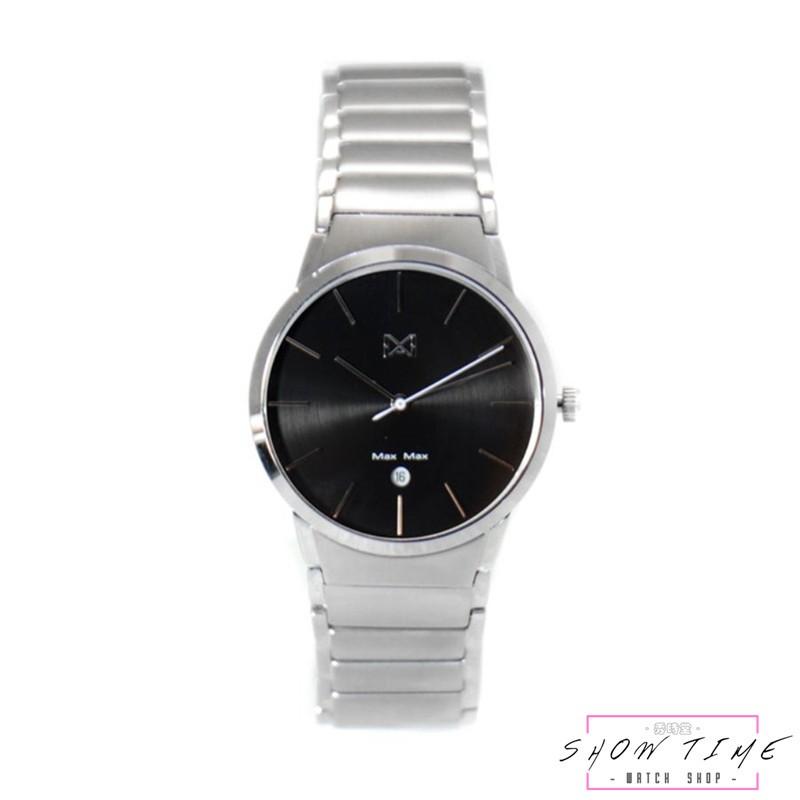 Max Max 極緻簡約品味時尚腕錶(女)-鋼帶/黑面銀 MAS7023-2 [ 秀時堂 ]