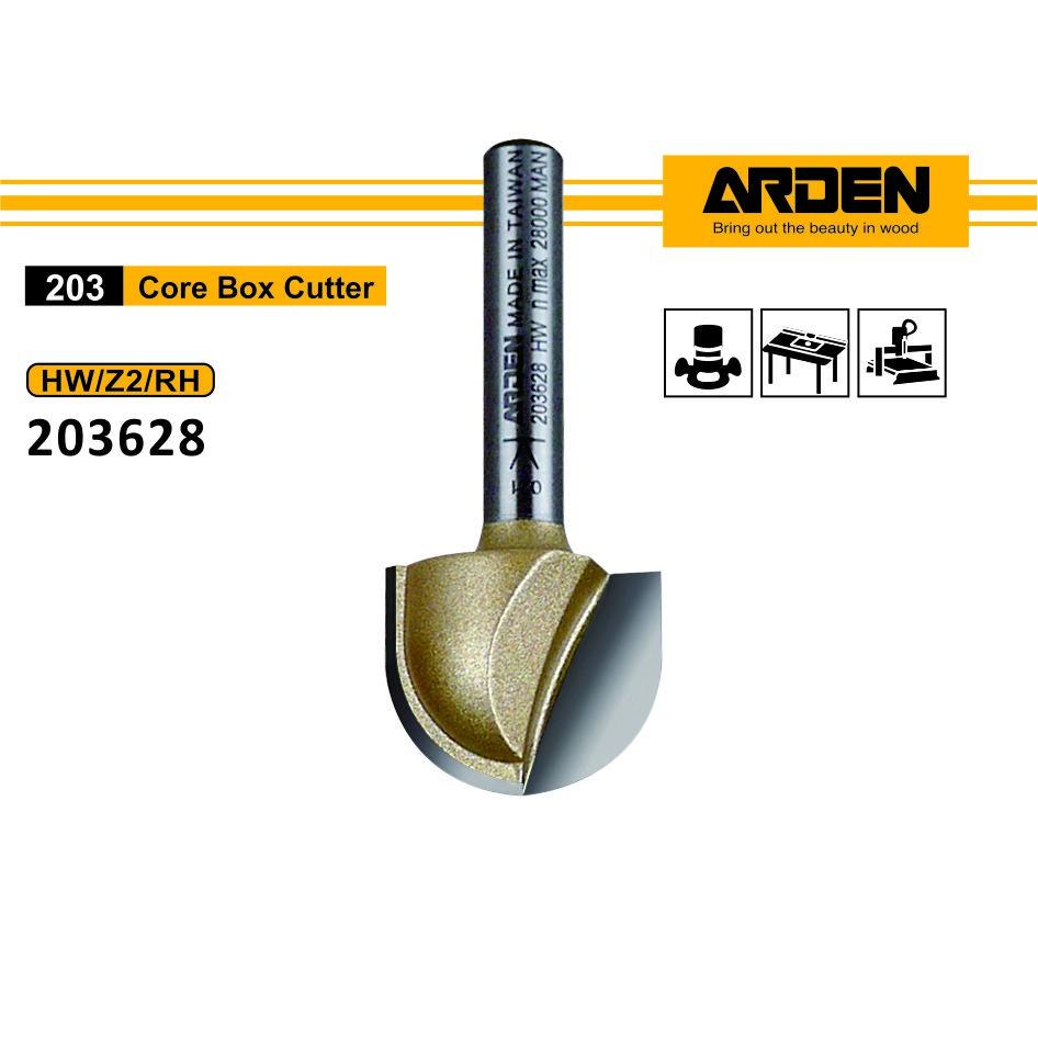 Arden 203628 圓底刀 R10x20x16x6mmS