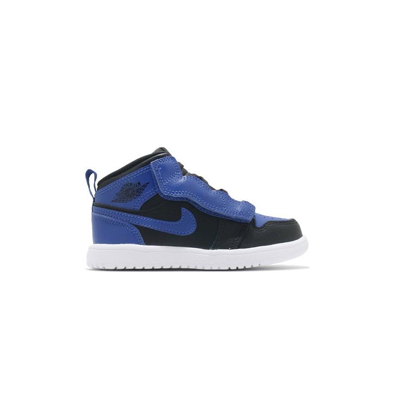 Nike Jordan 1 Mid Alt (TD) 小童鞋 黑藍 魔鬼氈 籃球鞋 AR6352-077