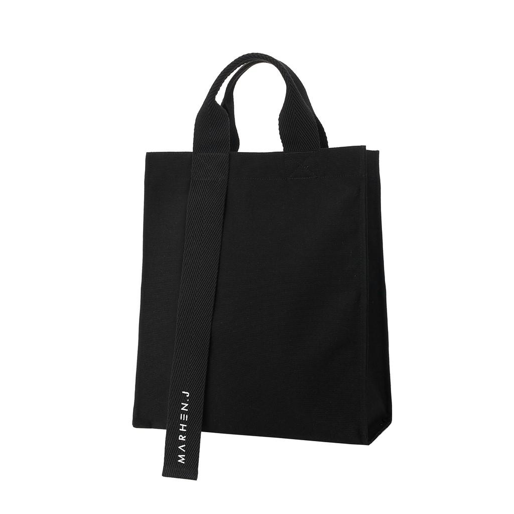[MARHEN.J] RICKY All Black 帆布包 - 黑色