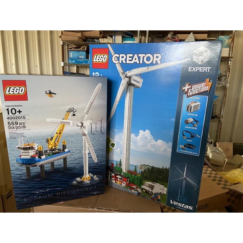 LEGO樂高 4002015 10268 博爾庫姆岩盤風力發電場—員工貨 風力發電 全新未拆 兩盒盒賣
