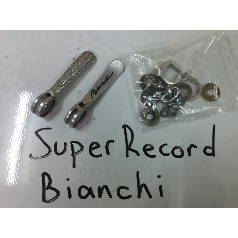 Campagnolo Super Record Bianchi Panto Downtube Shifters