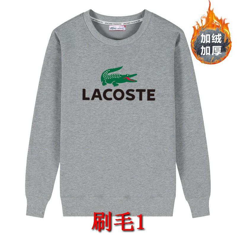 班服團體服 2件700 Lacoste 法國鱷魚 刷毛大學T 情侶T 長袖T恤 大呎碼上衣 衣服圓領T恤內搭加絨保暖衛衣