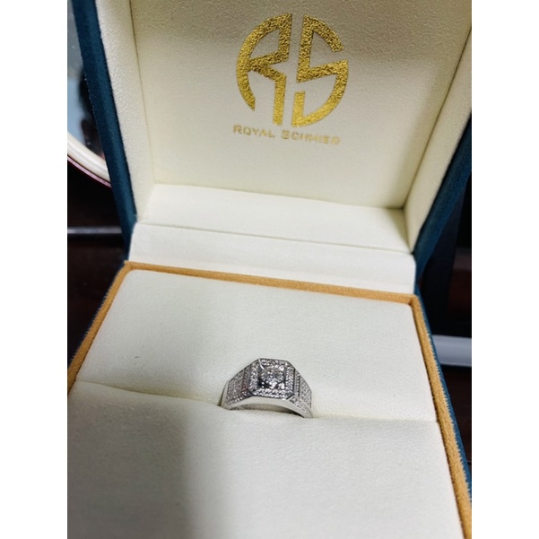 ROYAL SCHMIED be 皇家鍛造真鑽戒指100%實拍 男性鑽戒 戒圍可調 保證正品 男性必備