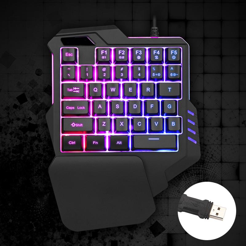 適用於 Pc Game Lol Pubg Hengmatimevo 的新型單手機械鍵盤左手遊戲鍵盤