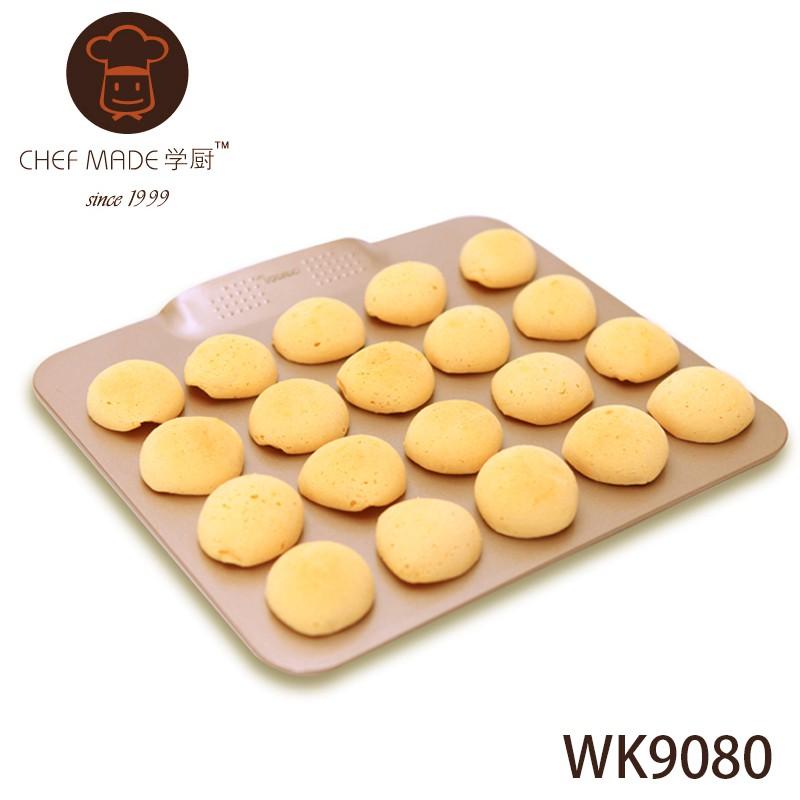 學廚 WK9080 香檳金 餅乾烤盤 (大) 不沾 大號 無邊烤盤 不沾黏 I-Kitchen【愛廚房】
