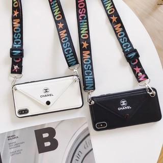 殼 側 萬殼i8 plu蘋果手機殼 Xr ixs現貨 香奈兒 皮革卡包 iPhonemax ixi6 i7 s保護殼 硬