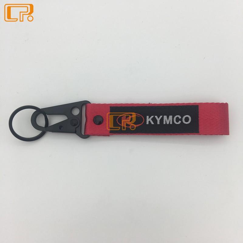 摩托車通用鑰匙扣 KYMCO SYM MONSTER 川崎 CFMOTO 跑車時尚鑰匙掛件 掛繩 裝飾鑰匙圈扣 刺繡繩