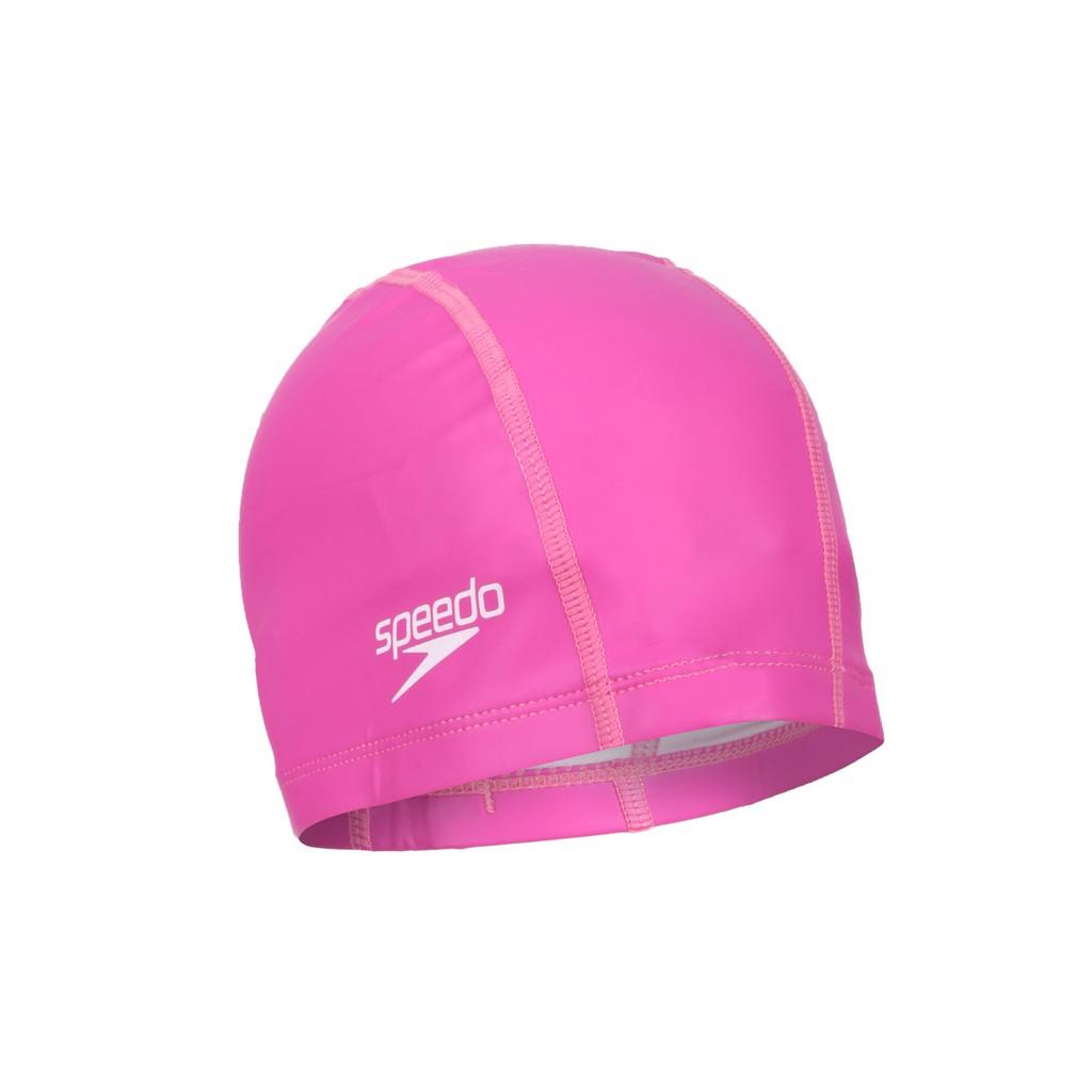 SPEEDO Pace 成人合成泳帽(游泳 戲水 海邊 沙灘 深粉紅 SD8720641341