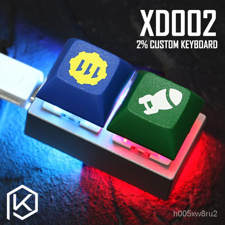 【香港現貨速發】xd002機械鍵盤客製化羞弟xiudi宏自定義2%小鍵盤osu陽極鋁外殼pcb